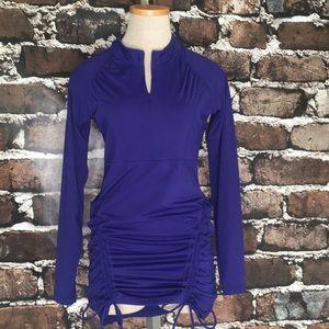 Athleta tunic dress coverup purple sleeves small
